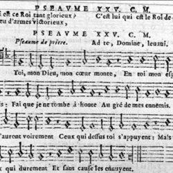 Psaume XXV mis en vers par Clément Marot