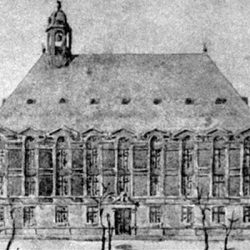 Temple de Charenton (94) : reconstitution de la façade méridionale (1927)