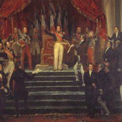 Louis-Philippe prêtant serment de respecter la charte