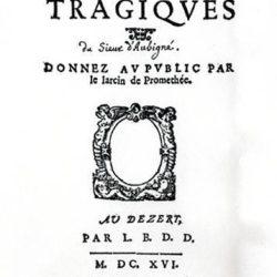 Les Tragiques d'Agrippa d'Aubigné