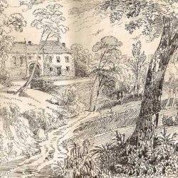 Les Charmettes, maison de Madame de Warens, dessin de Töpfer