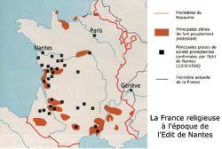 La France religieuse à l'époque de l'édit de Nantes