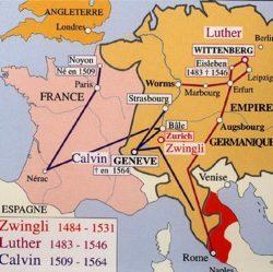 Les itinéraires de Luther et Calvin