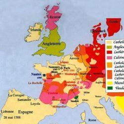 Situation religieuse en Europe de l'ouest à la fin du XVI<sup>e</sup> siècle