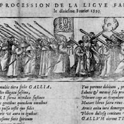 The league: march in Paris on February, 10, 1593