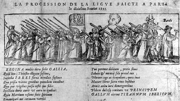 Die Liga: Prozession in Paris am 10. Februar 1593