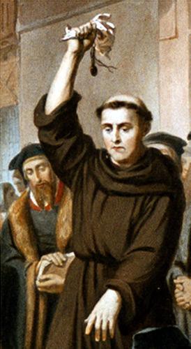 Luther brûlant les bulles du pape (10 décembre 1520)