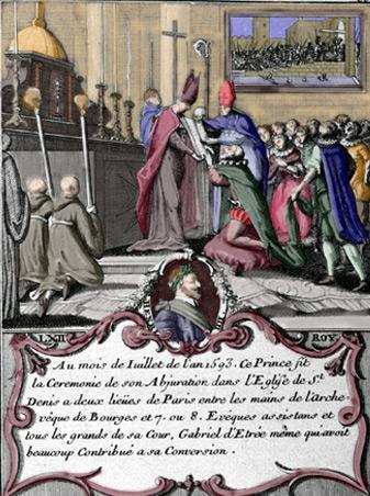 Cérémonie d'abjuration de Henri IV
