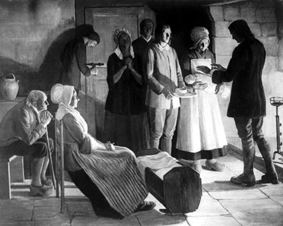 Un baptème clandestin après la Révocation de l'Edit de Nantes