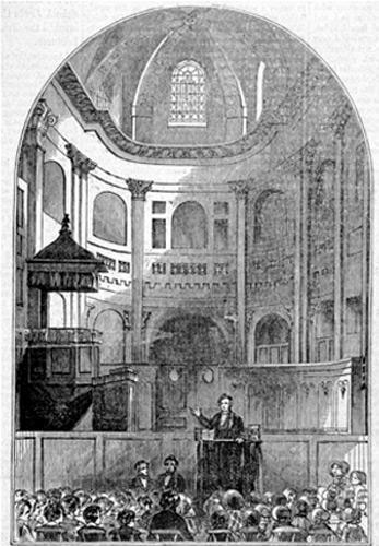 École du Dimanche au temple de l'Oratoire (1822), Paris.
