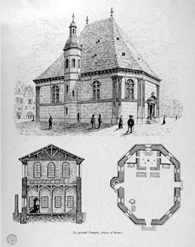 Temple de la Rochelle, gravure du XIX<sup>e</sup> siècle (17)