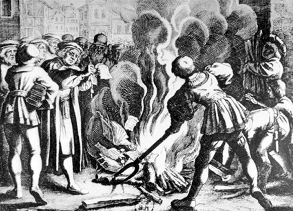 Luther verbrennt die päpstliche Bulle (10. Dezember 1520)