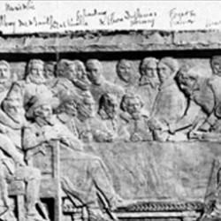 Signature de l'édit de Nantes (1598), sur le Mur des réformateurs, à Genève (Suisse).