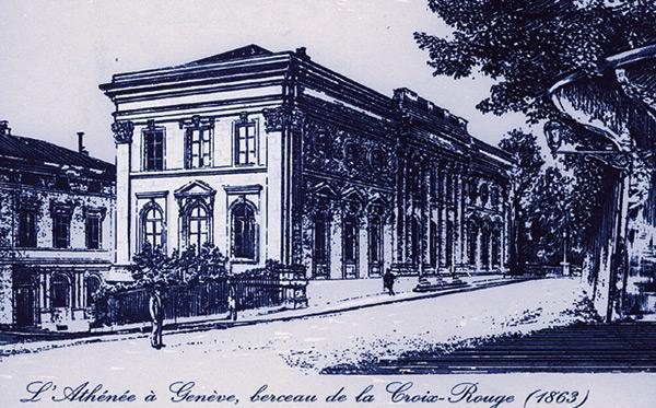 L'Athénée, où se tint la Conférence de la Croix Rouge en 1863