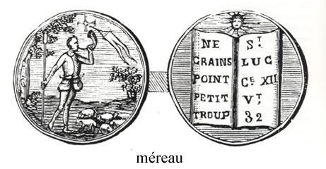 Méreau utilisé en Agenais (XVI<sup>e</sup> siècle)