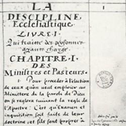 La discipline ecclésiastique des églises Réformées de France
