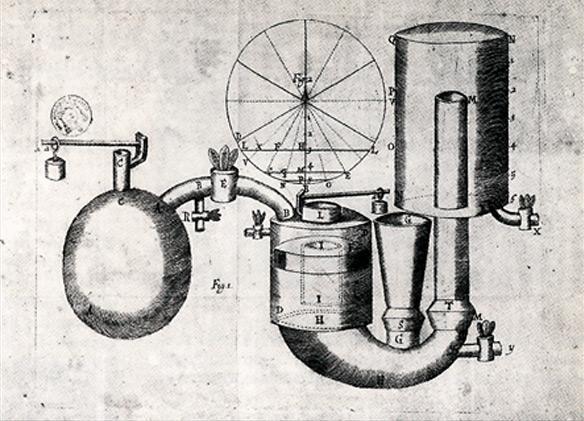 Denis Papin (1647-1714), machine à vapeur