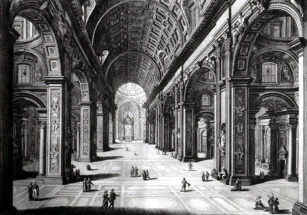 Intérieur de la Basilique St Pierre à Rome