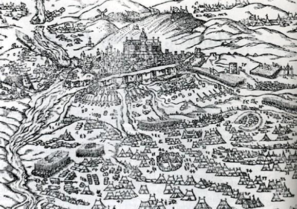 Siège de Saint Quentin où Coligny est fait prisonnier (1557)