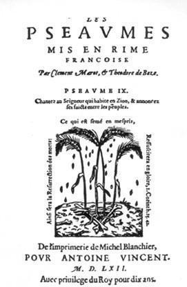 Recueil officiel des 150 psaumes de David (Genève de 1562)