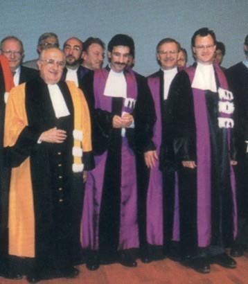 Professeurs de théologie en robe, au XXe siècle