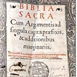 Bible in latin, Vulgate 1495