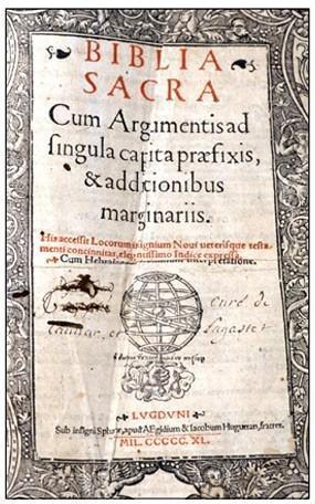 Lateinische Bibel « Vulgata » , 1495