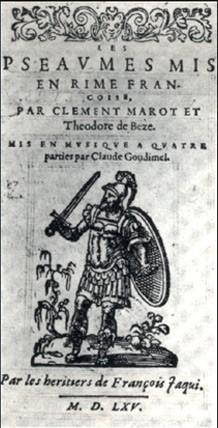 Psaumes de David mis en musique par Goudimel (1561)