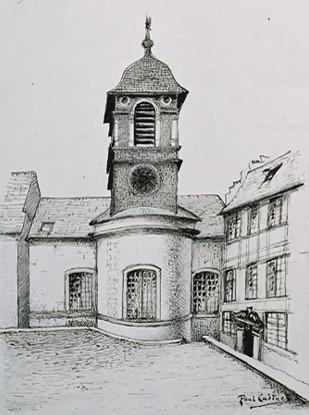 Sedan (08), chapelle ayant servi de temple de la Révolution à 1930