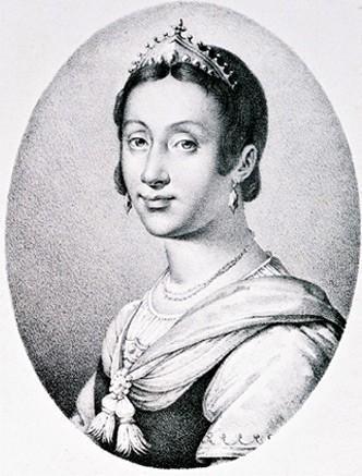Renée de France d'après un tableau du Musée Royal