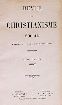 Revue du Christianisme Social, 1896-1972