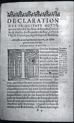 Déclaration des principaux motifs ...de Jean de Sponde