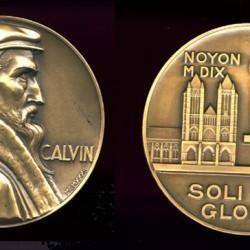 Médaille J. Calvin - Noyon 1010-1564 «Soli deo gloria»