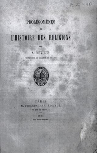 Reville A. : Histoire des religions