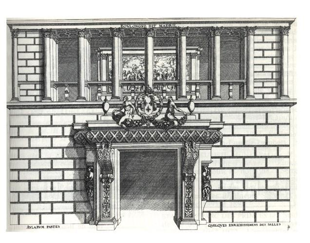 J. I Androuët du Cerceau, élément décoratif du château de Madrid à Neuilly