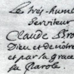 Signature de Claude Brousson