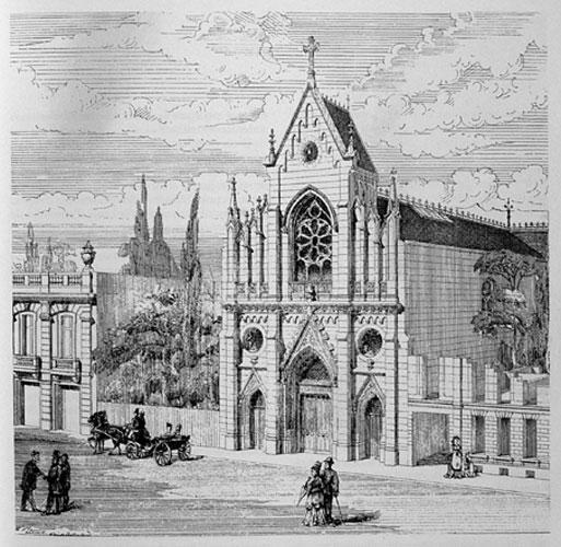 Temple de l'Étoile, Paris (dessin de W. Hansen)