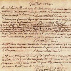 Registre paroissial de Saint Germain de Calberte