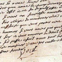 Billet de logement signé de la main de Poul