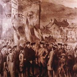 Jean Cavalier à Jersey en 1738, tableau