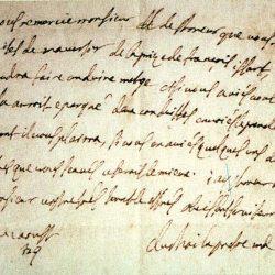 Lettre de l'abbé du Chaila, août 1701