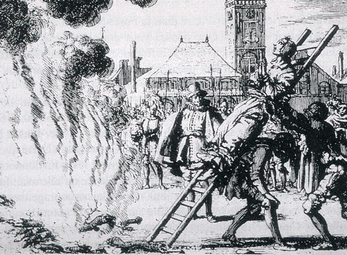 Mise à mort par le feu d'une anabaptiste