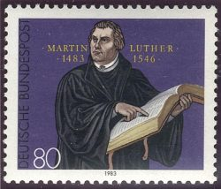 Timbre représentant Martin Luther