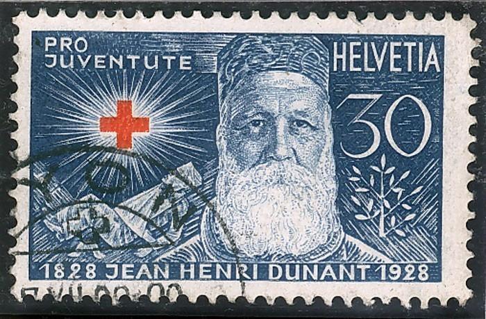 Timbre représentant Henri Dunant (1828-1928)