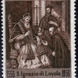 Briefmarke: Paul III. erkennt die Gründung der Gesellschaft Jesu (Jesuiten) an