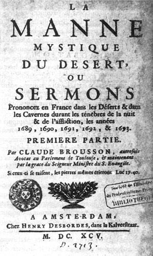 Recueil de sermons de Claude Brousson