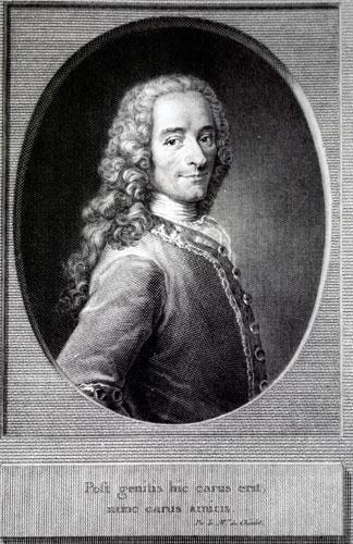 Voltaire (François Marie Arouet, dit, 1694-1778), gravure d'après La Tour