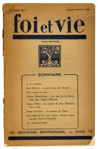 Foi et Vie, revue de culture protestante