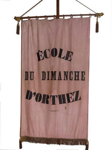 Bannière de l'école du dimanche d'Orthez