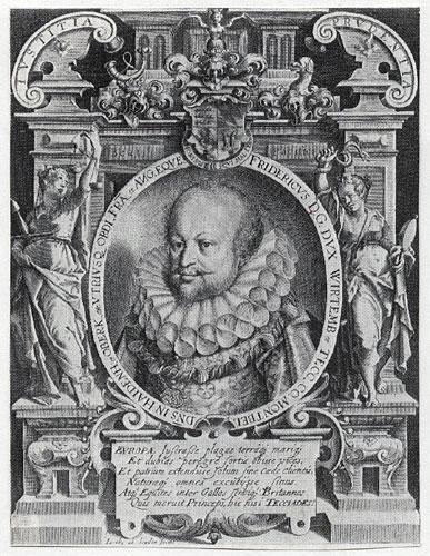 Frédéric duc de Wurtemberg (1593-1608), gravure